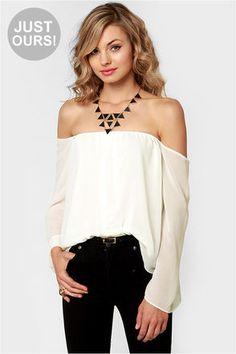 Off-the-shoulder neckline top