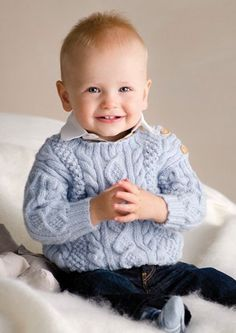 Aran Baby Sweater (0, 3, 6, 9, 12 mo.)   <   Free pattern   /   ap