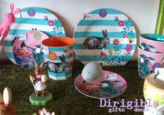 This fun rabbit dinnerware is a lovely and useful alternative to chocolate.
