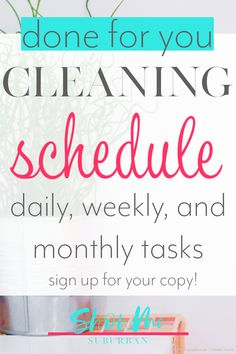 Keep your house clean in just 30 minutes a day with this monthly cleaning checklist! Cleaning your whole home is mapped out for you with daily, weekly, and monthly cleaning tasks. Sign up for your copy today! #printable #cleaning