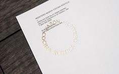 Letterhead with gold stamp