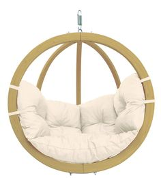Globo Garden Hanging Chair in Natura Cream Hammock Tent, Hanging Hammock, Hanging Chairs, Hanging Beds, Hanging Cradle, Hanging Rope, Patio Swing, Swing Seat, Porch Swings
