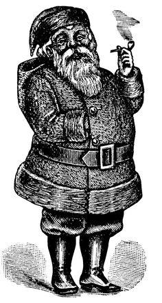 santa costume illustration, vintage santa doll, black and white graphics, printable book page, Victorian santa clause, vintage Christmas clip art