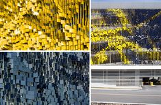 Parking Structure Art Facade--Eskenazi Hospital - 谷德设计网