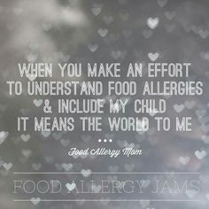 You may mess up & you may not ever fully understand, but when you make a effort, when you apologize for accidentally sending the treat my kid can't have, when you ASK instead of assuming. Tree Nut Allergy, Egg Allergy, Milk Allergy, Peanut Allergy, Kids Allergies, Allergy Free Recipes, Recipe For Mom, Safe Food, Kids Meals