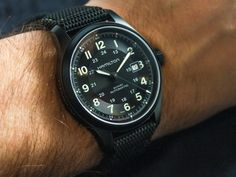 """Hamilton Watch Official page Khaki Field Titanium Auto Review - by James Stacey - Read the full review and see the photos and video on aBlogtoWatch.com """"I've long been on record as saying that a field watch may be the most accessible watch design for most guys...the Hamilton Khaki Field is a line I frequently recommend to friends who are looking for their first 'good' watch..."""""""