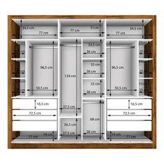 Guarda Roupa Casal com 3 Espelho 3 Portas Espresso Móveis Freijó Paar Kleiderschrank mit 3 Spiegel 3 Türen Siena Möbel