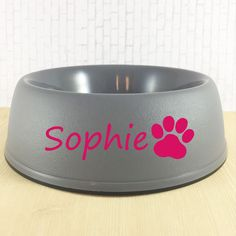 Dog Bowl Decal - Personalized Dog Dish - Water Bowl Sticker - Dog Lover Gift - Cat Name Decal - Cat Lover Gift - Dog Name Decal - Dog Bowl by SimplyGracefulDesign on Etsy