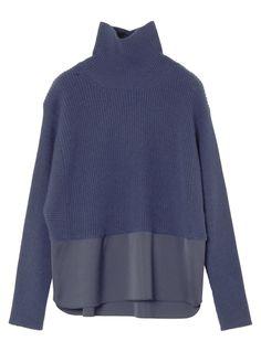 ドッキングプルオーバー Long Parka, Young Fashion, Sweater And Shorts, Street Chic, Knitted Fabric, Knitwear, Autumn Fashion, Cashmere, Women Wear