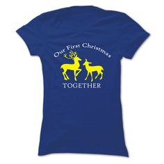 OUR FIRST CHRISTMAS TOGETHER Design Description:  Our First Christmas Together Tee shows a male and female reindeer together. A perfect gift for newly weds.