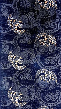 インジゴ染 Indigo some - Motifs Textiles, Textile Patterns, Textile Design, Textile Art, Design Art, Print Patterns, Japanese Textiles, Japanese Patterns, Japanese Art