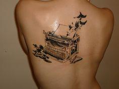 Cool typewriter tattoo