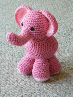 Crochet elephant pattern by CherisCrochetAndMore on Etsy, $5.00