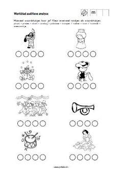 * Hoeveel woordstukjes? Theme Carnaval, Worksheets, Letters, School, Countertops, Toddlers, Spelling, Google, Writing