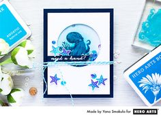 July 2016 My Monthly Hero - Need a Hand Card by Yana Smakula for Hero Arts  Octopus