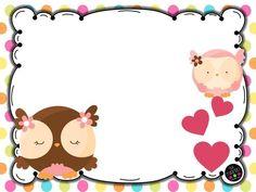 Colección de portadas para nuestros trabajos y cuadernos diferentes diseños y motivos - Imagenes Educativas Kids Graphics, Borders And Frames, Art Background, Writing Paper, Sweet Memories, Name Cards, Diy And Crafts, Hello Kitty, Stationery