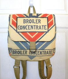 Vintage Wayne McMillen Feed mill Feed sack backpack by LoriesBags