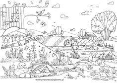 170* Wiosna - kolorowanka | dobrze narysowane...