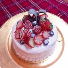 バレンタインのショートケーキ