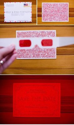Gafas 3D para un Save the Date de lo más especial