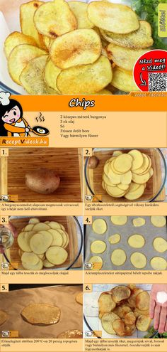 Hausgemachte Chips Rezept mit Video – Chips selbermachen/ Partyfood You can easily make chips yourself! The QR code makes it easy to find the homemade chips recipe video 🙂 # pastries recipes Potato Chips Homemade, Homemade Sour Cream, Best Pancake Recipe, Pancake Recipes, Dessert Recipes, Brulee Recipe, Strawberry Oatmeal, Food Videos, Food And Drink