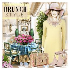 """""""Brunch Goals"""" by petri5 ❤ liked on Polyvore featuring art and vintage"""