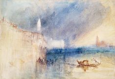 Joseph William Mallord Turner Venice | Joseph Mallord William Turner Paintings, Storm at the Mouth of the ...