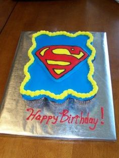 This went with the superman cake.  And yes!!  I forgot...