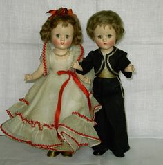 Vintage 1940'S EFFANBEE Portrait TANGO BOY/GIRL TWINS  11 1/2 Inch  Composition  #DollswithClothingAccessories