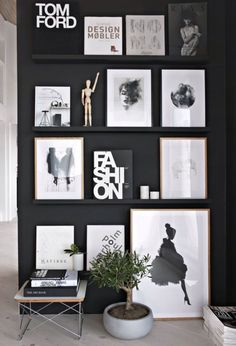 A great black display wall