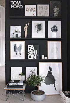 A great black display wall