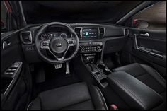 New Kia Sportage interior shown ahead of official debut. Kia reveals 2016 Kia Sportage interior - Kia promising the new Sportage will come with a roomier, m Kia Sportage, Kia Motors, Kia Sorento Interior, Rad Ab, Interior Design And Technology, Car Interior Upholstery, Crossover Suv, Auto Motor Sport, Station Wagon