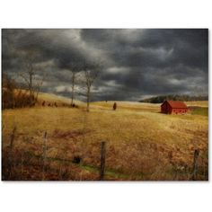 Trademark Fine Art Winter Begins Canvas Art by Lois Bryan, Size: 30 x 47, Multicolor