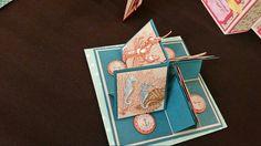 3d shoebox card sea 4 easel