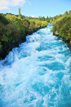 Huka Falls. Narrow canyon of Huka falls on the Waikato River, New Zealand , #AD, #Narrow, #canyon, #Huka, #Falls, #River #ad