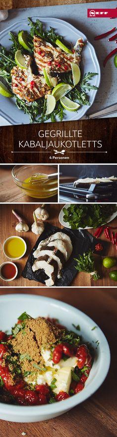 F(R)ISCH auf den Tisch! Kabeljau-Koteletts mit Harissa-Butter. Ein tolles Fisch-Rezept!