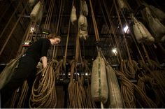 theatre rigging -ropes, pullys, sand bags