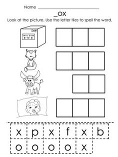 Worksheets Phoneme Segmentation Worksheets word families student and the ojays on pinterest cvc words short o students use letter tiles to spell out words