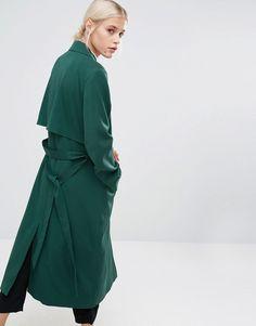 Image 2 of Monki Trench Coat
