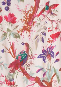 Flora and Fauna and Fabulous Curtain in Pink, #ModCloth