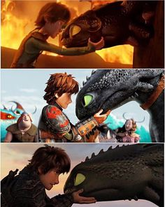 hiccup and toothless httyd, This is cute To je roztomilé Httyd Dragons, Dreamworks Dragons, Httyd 3, Disney And Dreamworks, Toothless Dragon, Hiccup And Toothless, Hiccup And Astrid, How To Train Dragon, How To Train Your