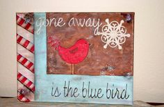easy christmas paintings on canvas | Hand Painted Christmas Canvas Art | Christmas Ideas