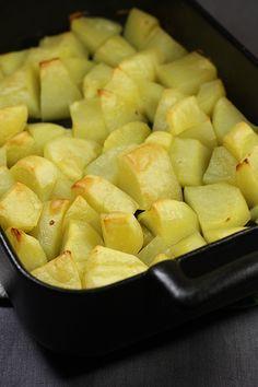 Pommes de terre crousti-moelleuses au four (cuisson avec du bouillon)- Audrey cuisine