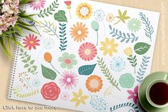 Spring Flowers, Gardening Clipart by MyClipArtStore on @creativemarket
