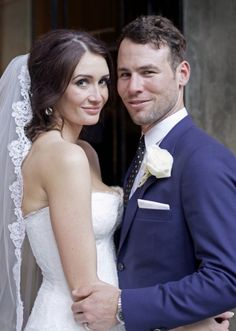 Mark Cavendish and Peta Todd after their wedding ceremony at One Mayfair in central London. Picture: Mark Bothwell/PA Wire