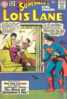 Superman's Girlfriend Lois Lane (1958) comic books Superman And Lois Lane, Superman Family, Dc Comic Books, Comic Book Covers, Comic Art, Old Comics, Vintage Comics, Vintage Books, Superman Girlfriend