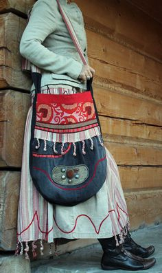 Ethnic folk recycled bag boho style