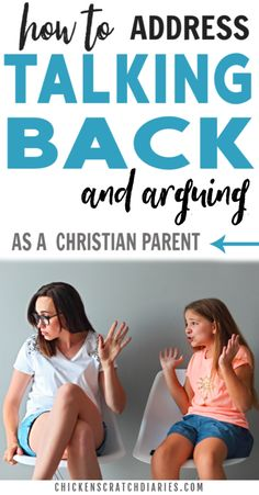 Learn how to address talking back and argumentative behavior in a logical way - while keeping your cool! #PositiveParenting #ChristianParenting #BackTalk