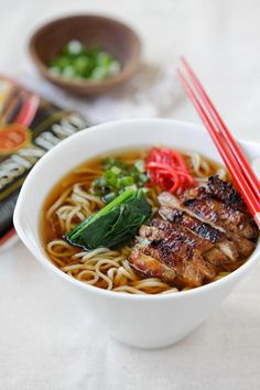 Lemongrass Chicken Soy Sauce Ramen - best instant ramen with chicken. Homemade, easy, simple with Nissin RAOH ramen. So quick and good   rasamalaysia.com