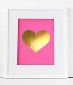 This fun heart foil print is the perfect addition to your home, office or gallery wall! 8.5″ x 11″ foil print on thick french paper Printed in gold or silver foil Eight colors to choose from: white, kraft, black, navy, aqua, mint, hot pink, or light pink Made in the U.S.A. Frame not included Ships [...]